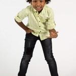 Boy's Checkered Yellow Shirt