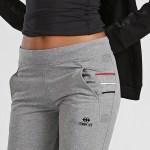 Women's Pocket Grey Melange Classic Sweatpants