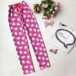 Women's Printed Pink Pajama Pants