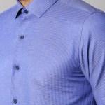 Men's Patterned Blue Slim Fit Shirt