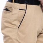 Men's Garnish Brown Pants