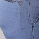 Men's Slim Fit Sports Blue Linen Pants