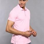 Men's Plain Light Pink Polo T-shirt