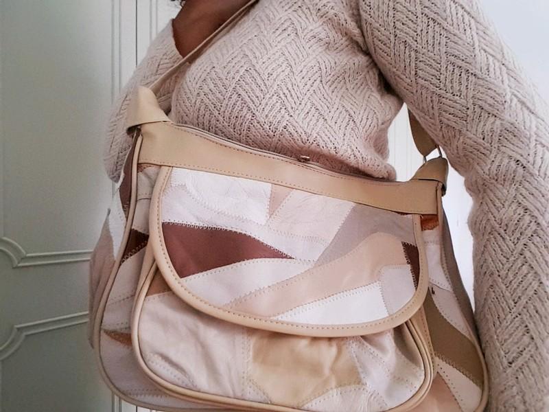 sac cuir vintage couleurs automne