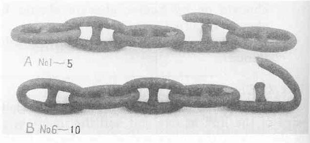 Broken Anchor Chain Links