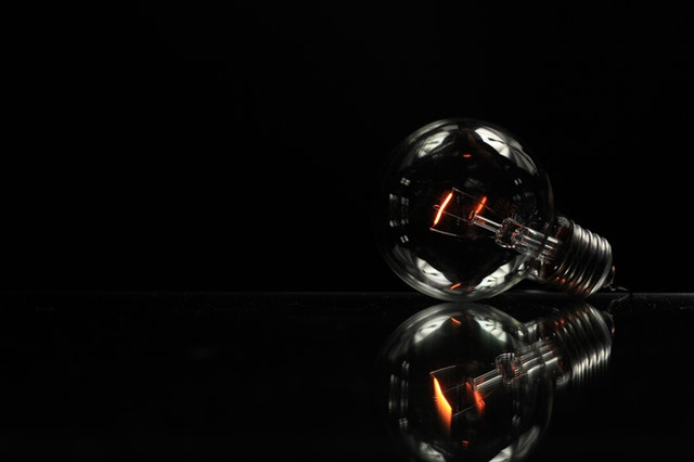 Mirror Light Black Glass