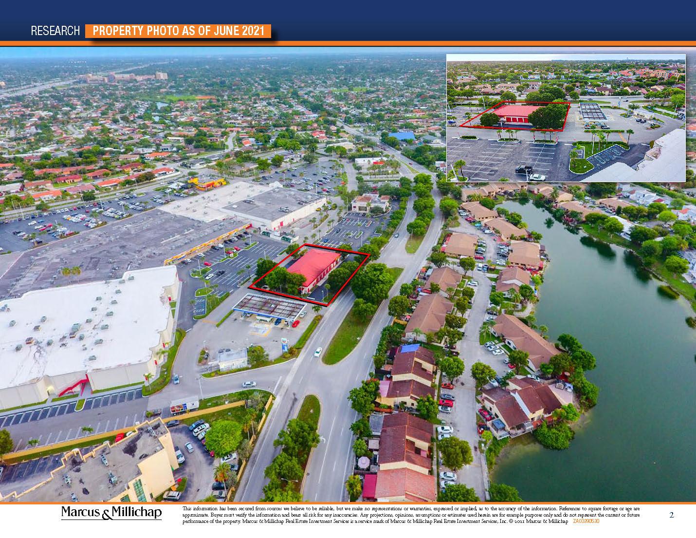 Aerial photos of Tires Plus Miami FL NNN for sale