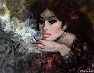 La fumatrice