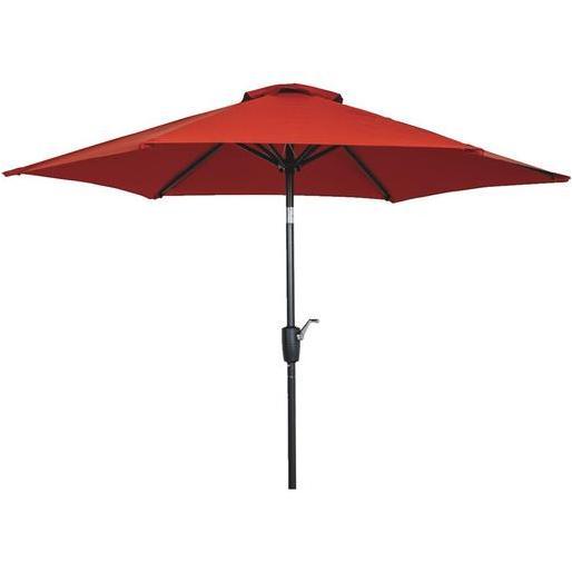 outdoor expressions 7 5 ft aluminum tilt crank crimson red patio umbrella