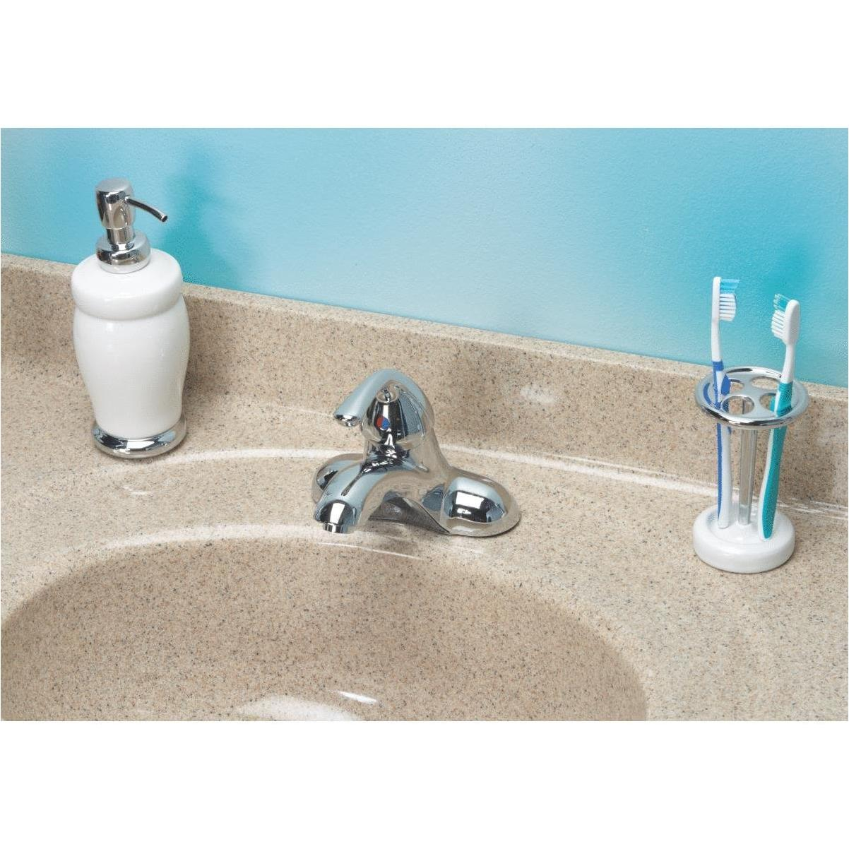home impressions chrome 1 handle lever 4 in centerset bathroom faucet with pop up