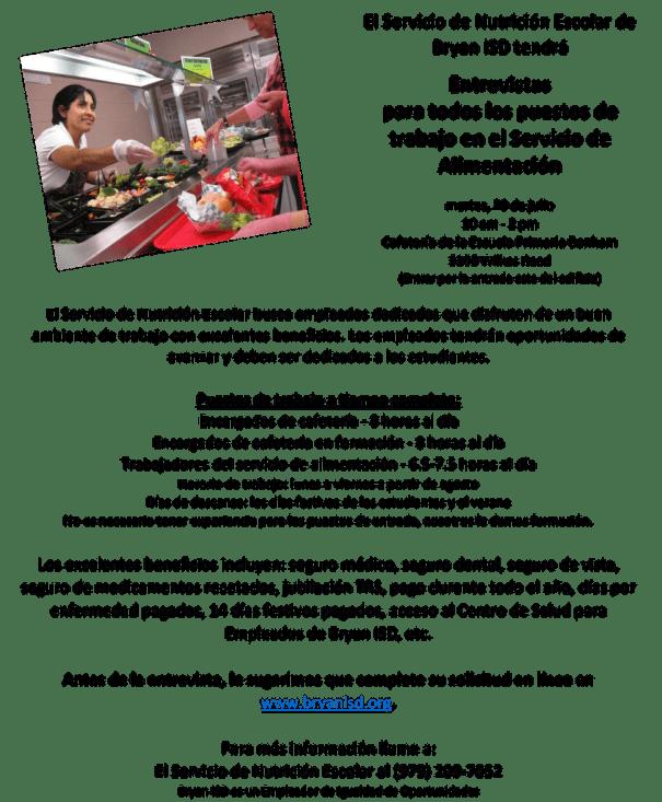 School Nutrition Services Hiring Fair