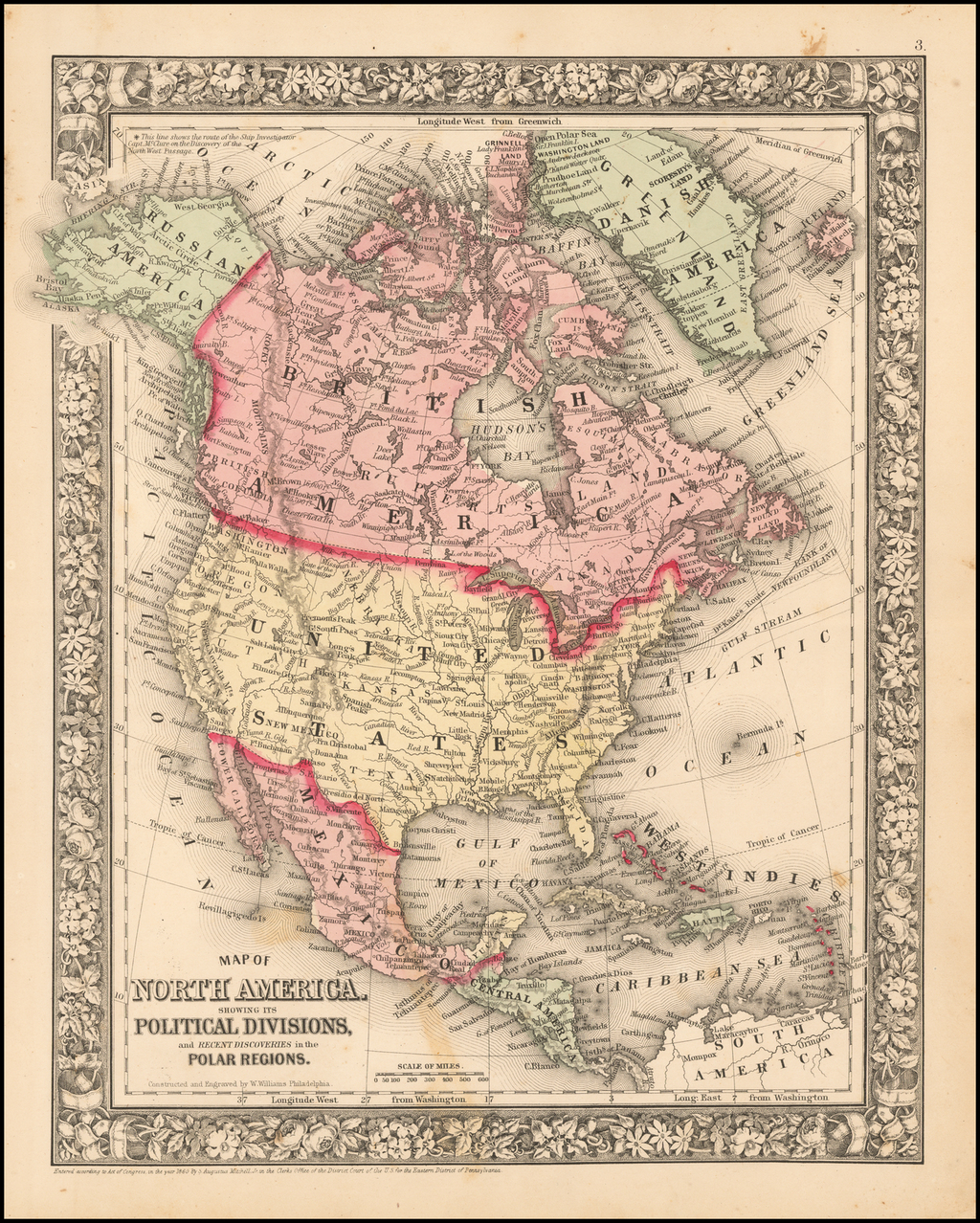 Map Of North America Showing Its Political Divisions And