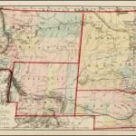 Map Of Nebraska Dakota Montana And Wyoming Barry Lawrence Ruderman Antique Maps Inc