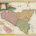 A Map Of The Island And Kingdom Of Sicily From The Latest Observations Malta Inset Barry Lawrence Ruderman Antique Maps Inc