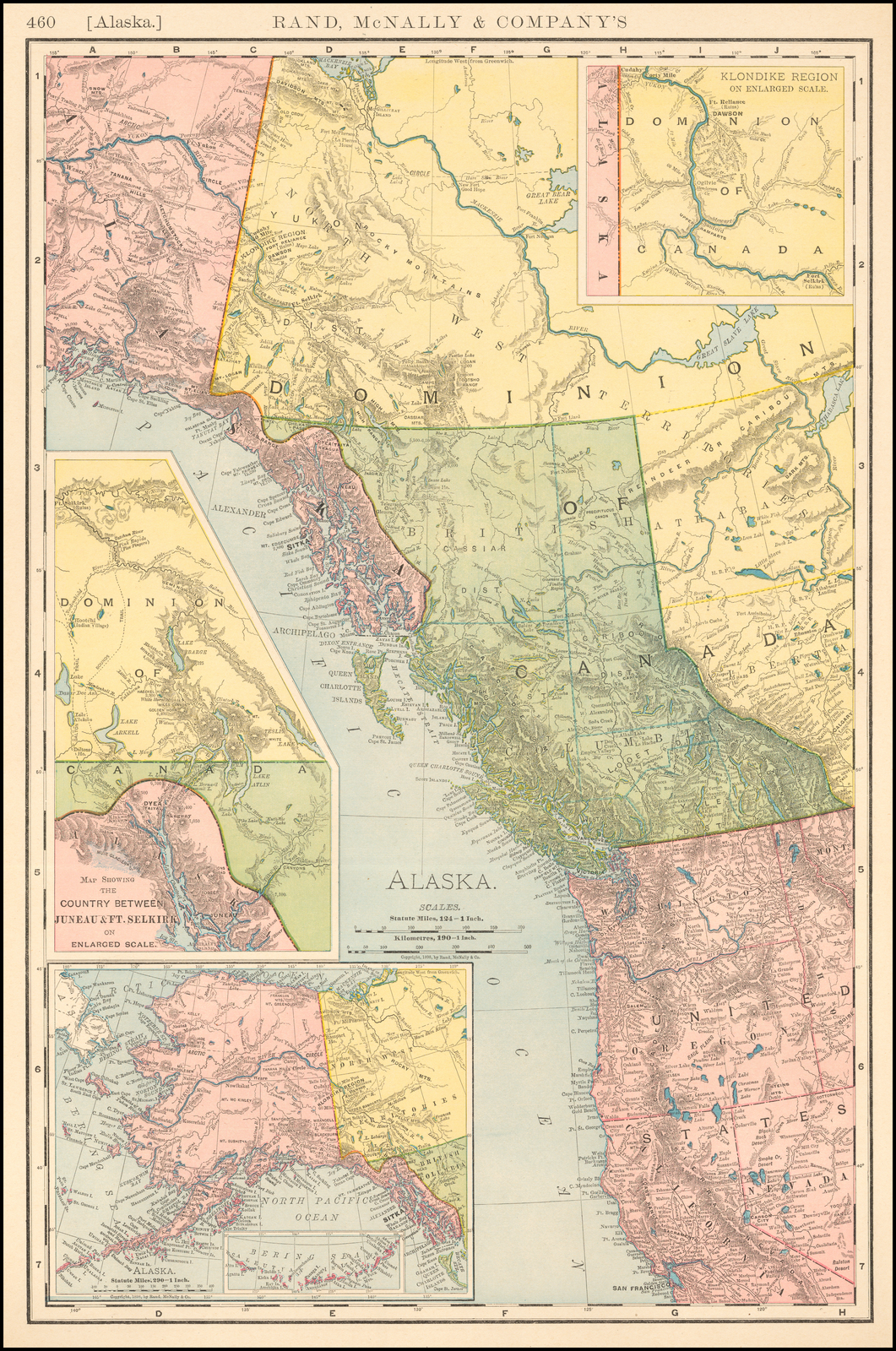 Gold Rush Map With Routes To The Diggings Rand Mcnally