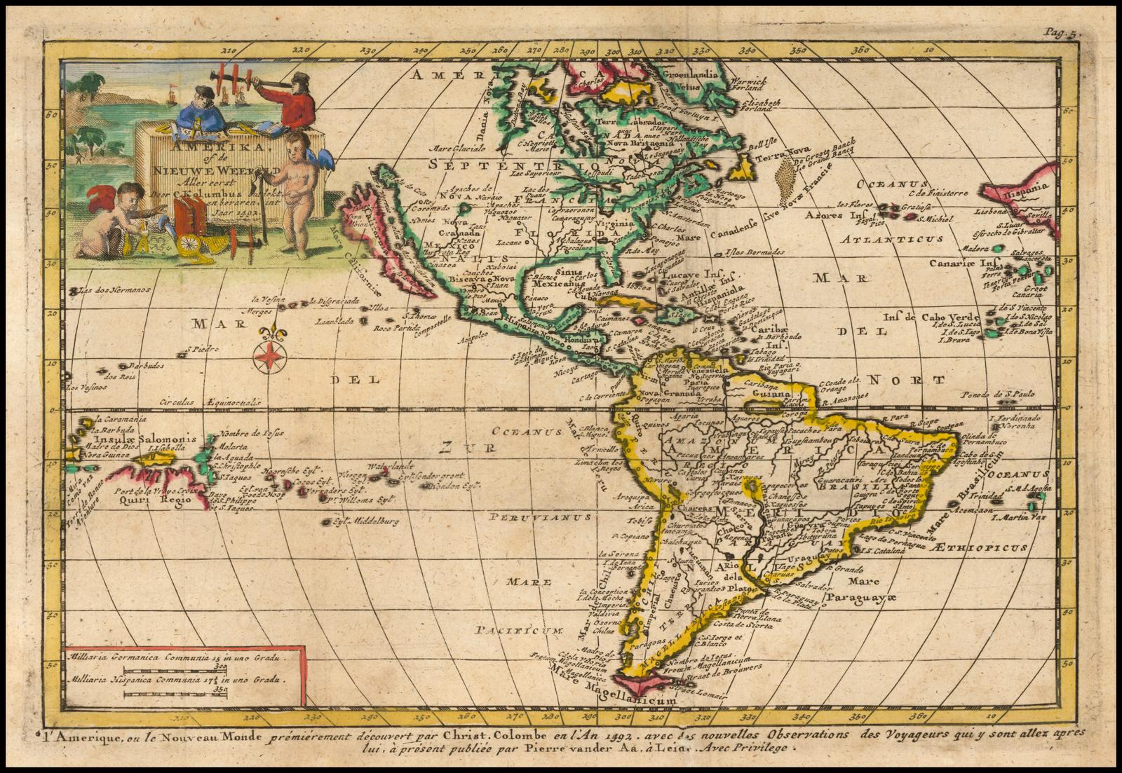 Amerika Of De Nieuwe Weerld Aller Eerst Door C Kolumbus 1492 Barry Lawrence Ruderman Antique Maps Inc