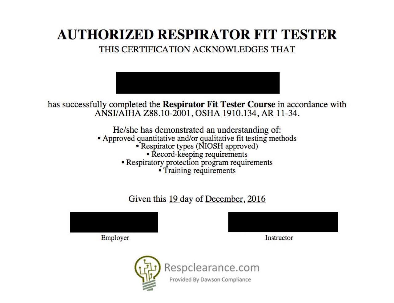Respclearance Com Respirator Medical Evaluation And Fit