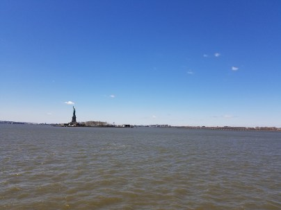 The Hudson River with the Statue of Liberty in the background