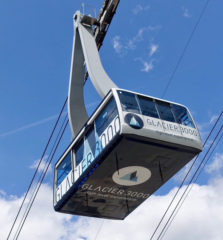 glacier 3000 ski cable car