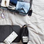toiletries in suitcase for ski holiday