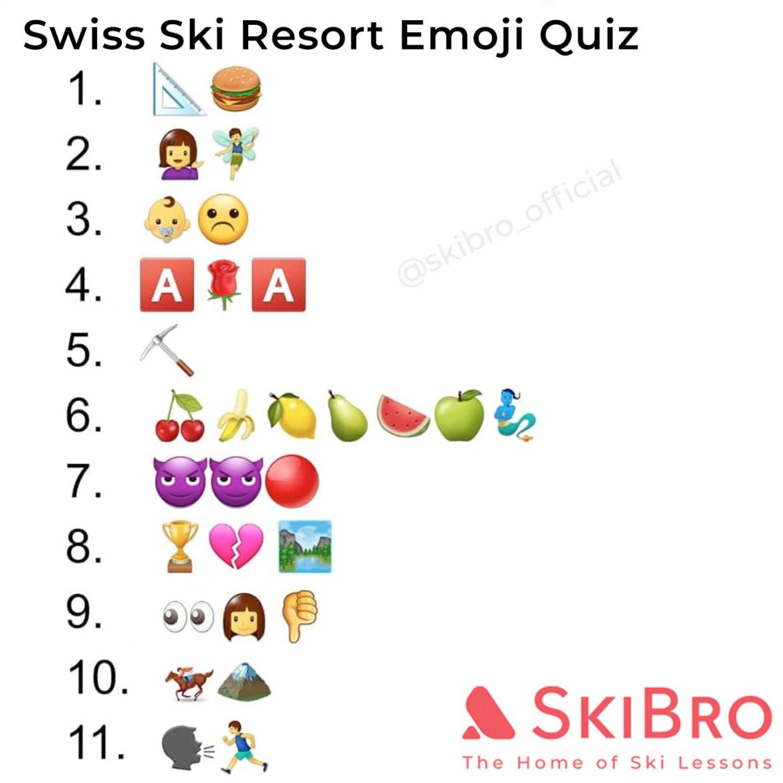 emoji quiz of 10 popular swiss ski resorts