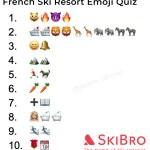 emoji quiz of 10 popular french ski resorts