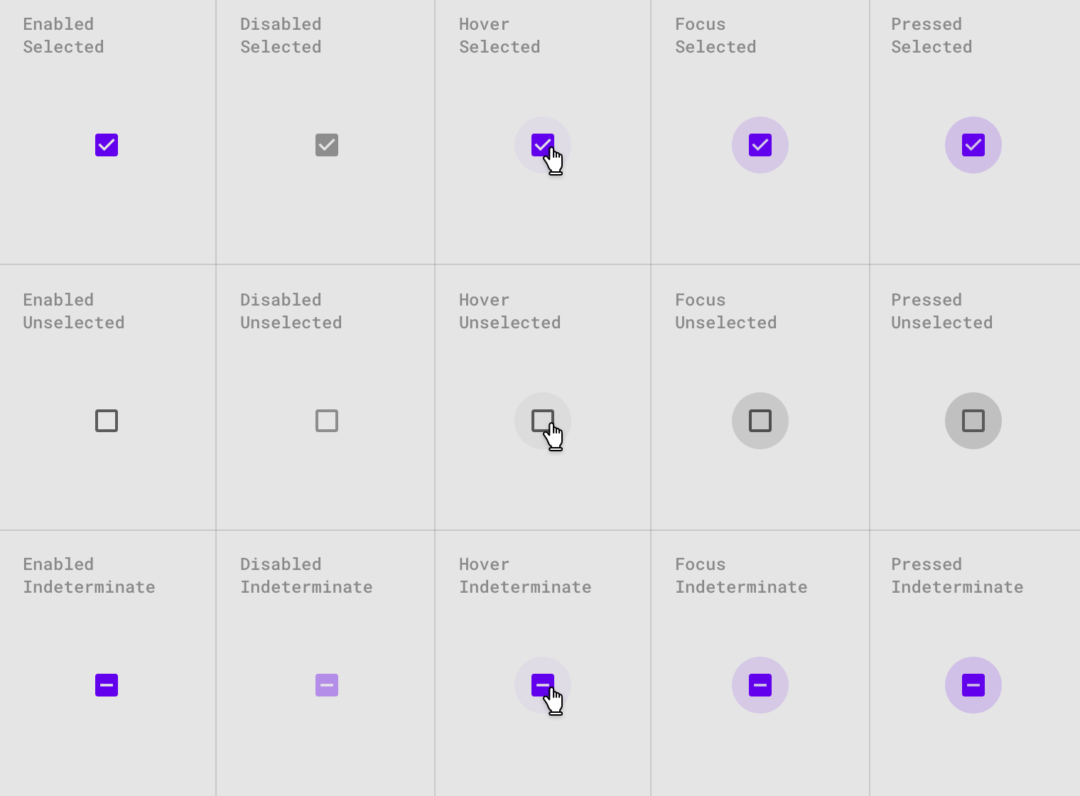 Selection Controls