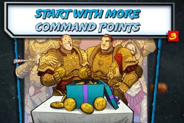 3 more command points