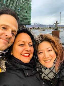 Oliver & Elke & Sophie in Reykjavik #Airwaves19