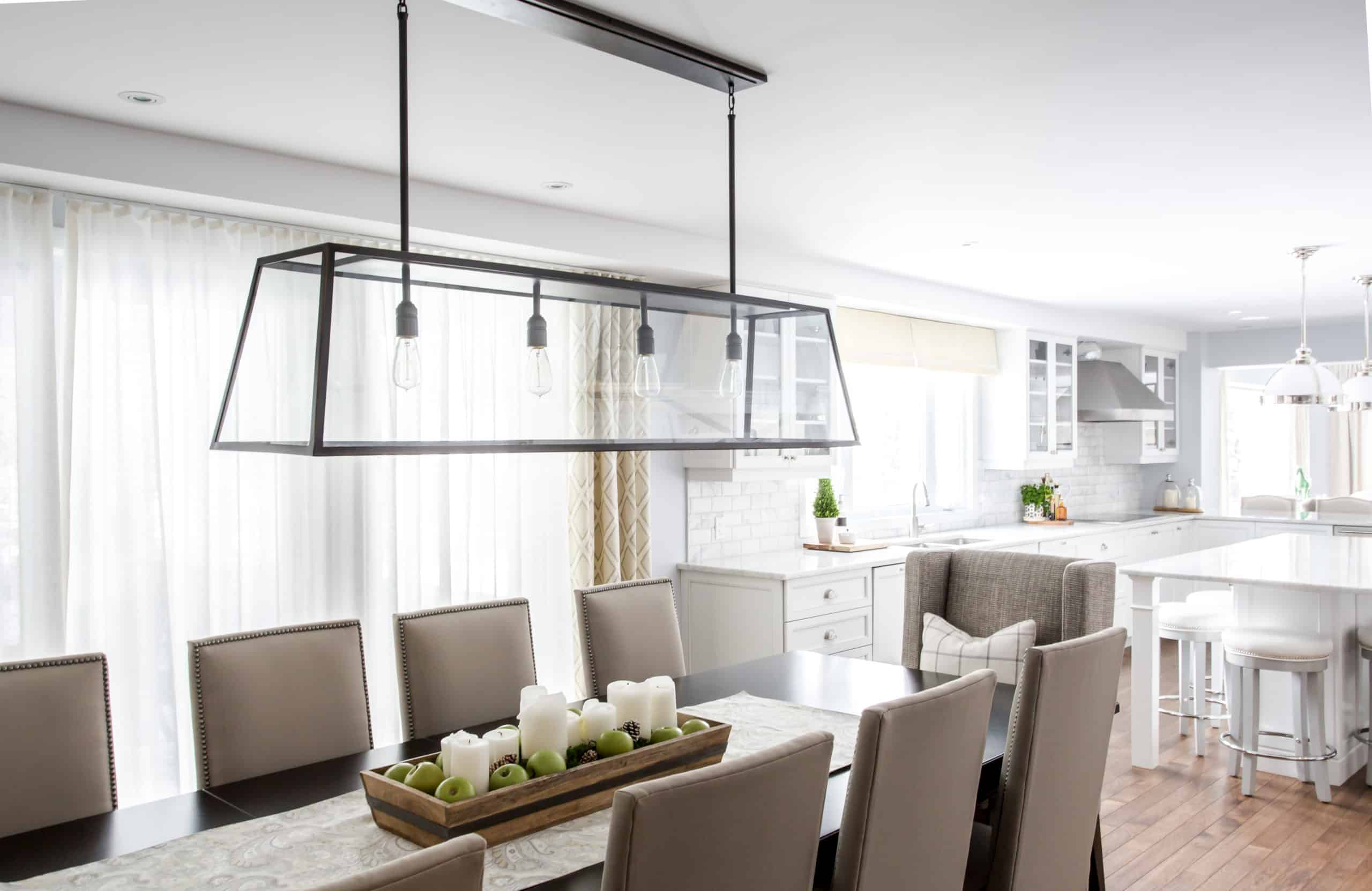Modern dining room and kitchen open concept