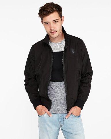 express black nylon bomber jacket
