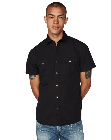 Slim Garment Dyed Short Sleeve Shirt