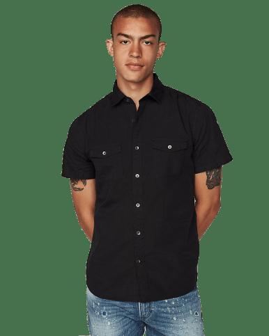Slim Garment Dyed Short Sleeve Shirt