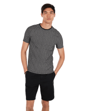 Palm Print Moisture-Wicking Stretch Tee