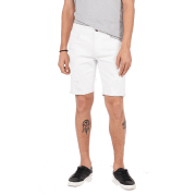 Express Slim 9 Inch White Stretch Distressed Denim Shorts