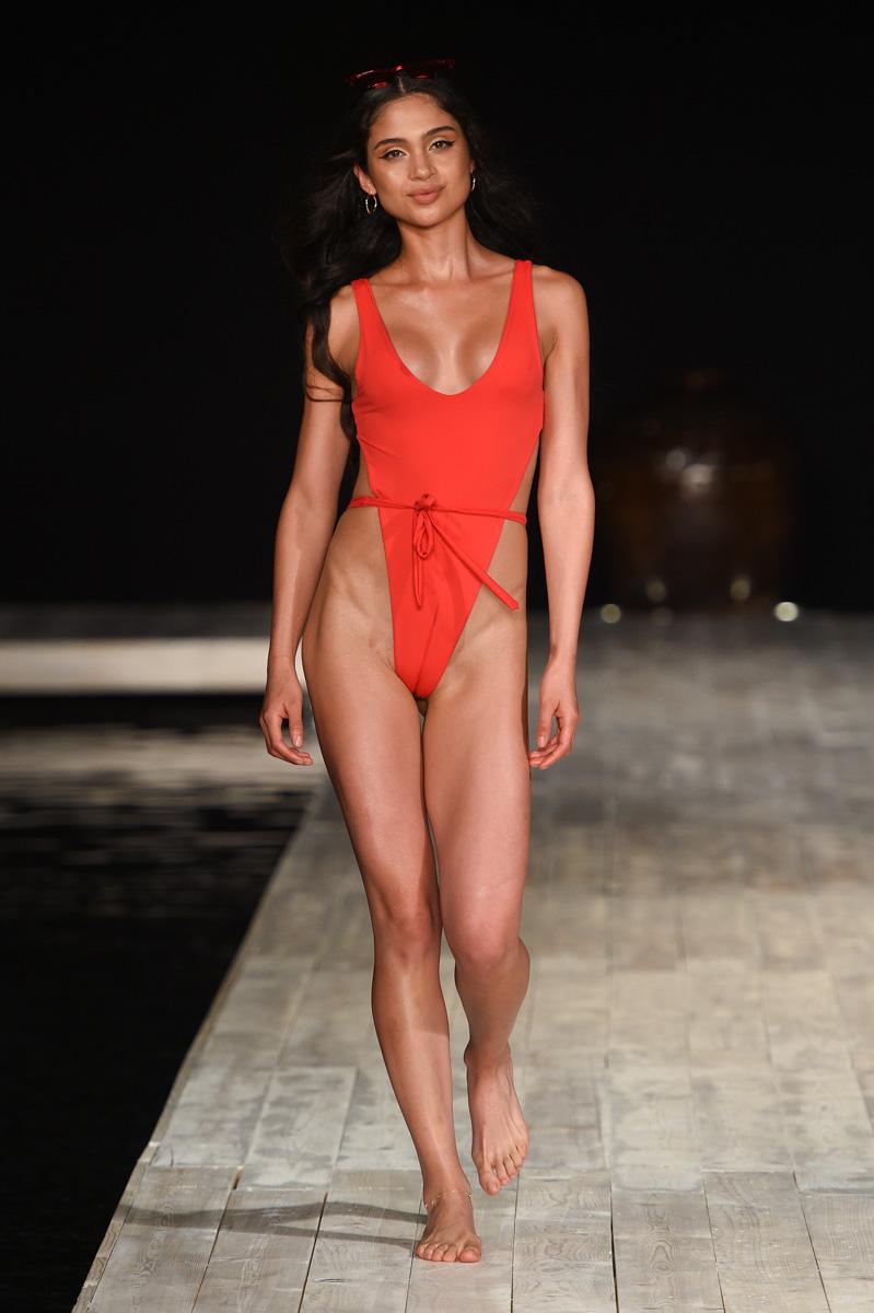 Runway Model at Miami Swim Week Runway Show Nessey Swimwear at the Setai hotel 2019