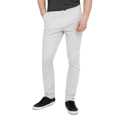 Gray Pearl stretch chinos express