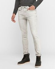 Skinny Gray Faded Hyper Stretch Jeans
