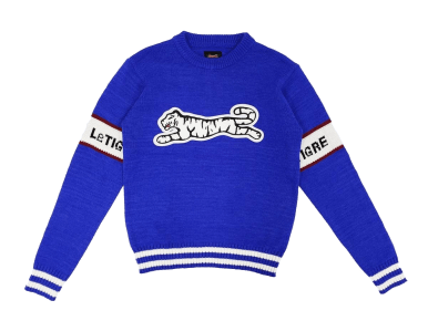 le tigre blue knit sweater spring 2020