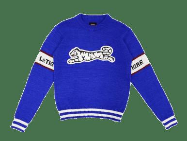 le tigre blue knit sweater spring 2020