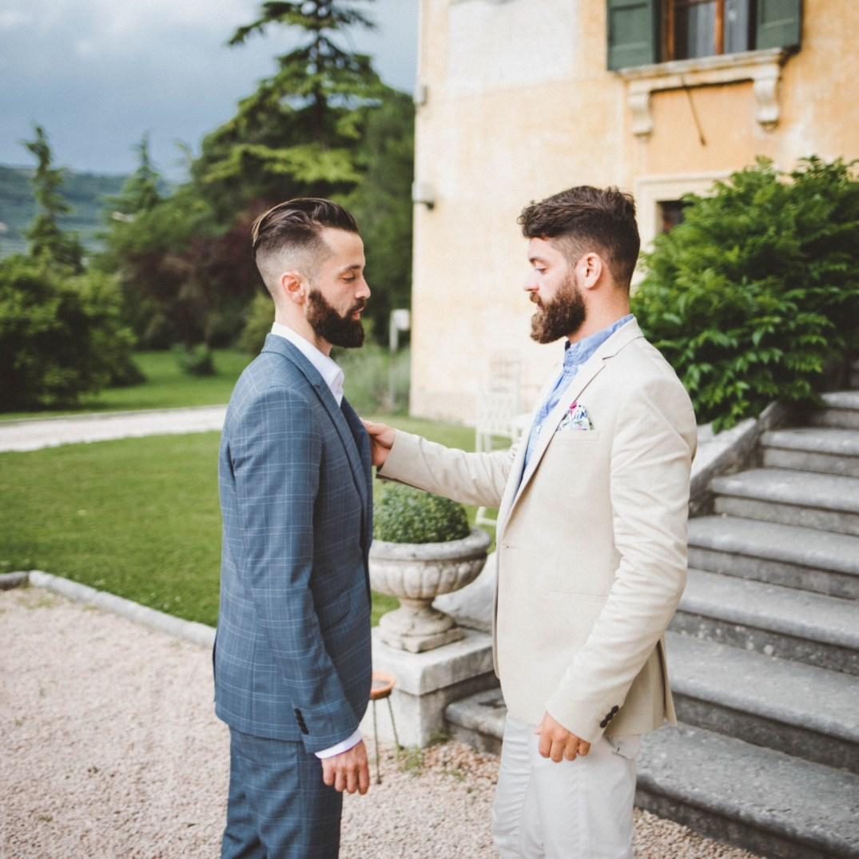 Michael Checkers Menswear Look 003 Broken Suit Italy Summer Wedding