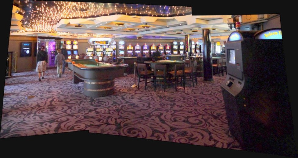 The casino, closed while the Crystal Symmphony is in port