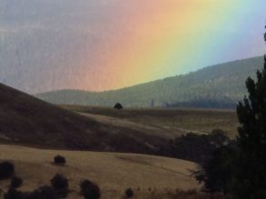 Rainbows can fill images with remarkable widths of colour when used with zoomed lenses