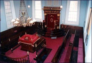 The interior of the synagogue (Hobart Synagogue online gallery)