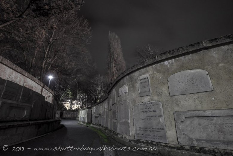 Headstones wall-St Davids Park-Hobart-- courtesy of Shutterbug Walkabouts