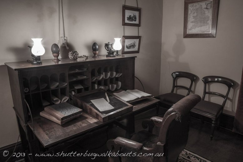 Writing desk-Commandants house-Port Arthur-- courtesy of Shutterbug Walkabouts