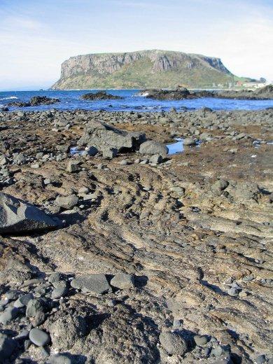 Ropey Lava near Godfreys Beach, Stanley.