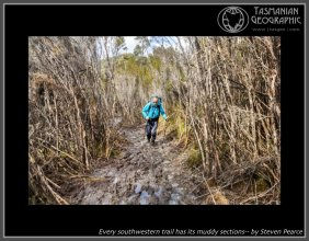 Every southwestern trail has its muddy sections-- by Steven Pearce