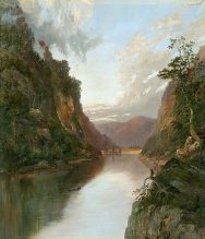 Hawkesbury River with Figures in Boat On the Nepean -- by William Piguenit - via Wikimedia