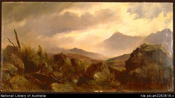Tasmanian landscape -- by William Piguenit - Natl Lib of Aus